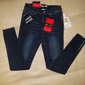 Seven 7 Jeans Womens Ankle Skinny Studded bottom